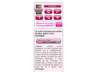 Astrologie mobile sur ce site
