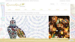 Tapis kilim et luminaire oriental chic